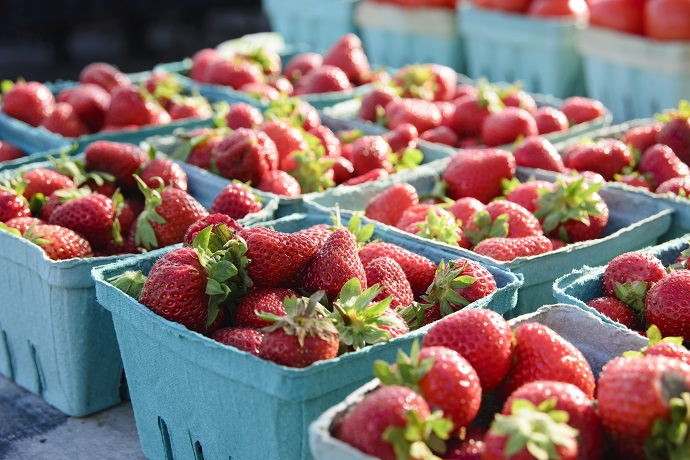 Farmers Market Strawberries 2