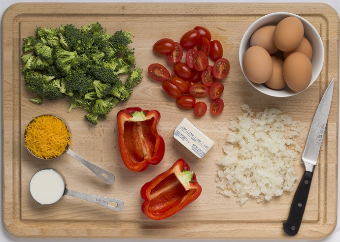 ingredients - quiche stuffed peppers