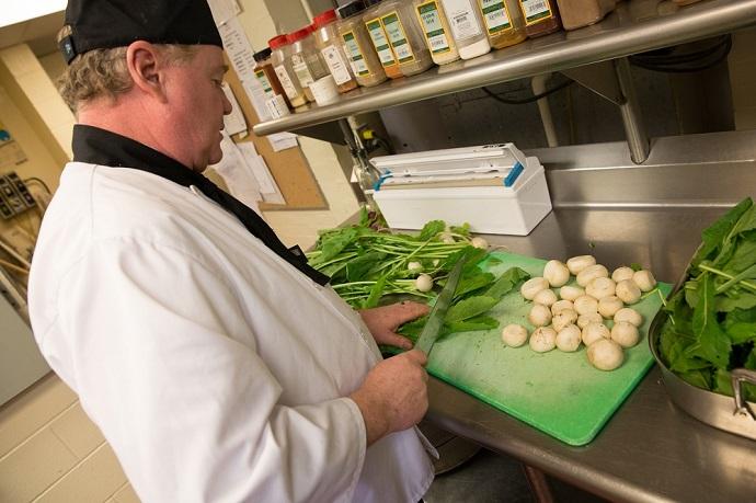 St. Andrews garden food prep
